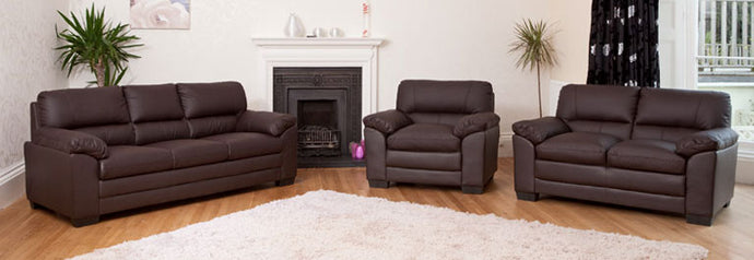 Faux Leather 3,2 1 (Armchair) and Sofa bed With Storage Ottoman available