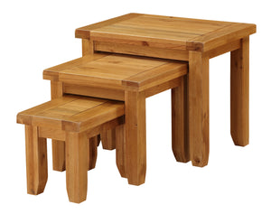 Acorn Solid Oak Wood Nest of Tables