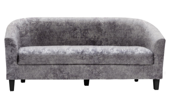 Claridon 3,2 and 1 Seater Sofa SET in Linen Fabric Crushed Velvet Silver