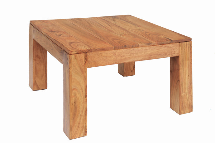 Carnival Light Coffee Table Square Solid Acacia Wood