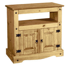 Load image into Gallery viewer, Corona TV Unit Cabinet Straight 2 Door Unit Solid Light Pine Wood - VEHome