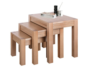 Cyprus Nest of Tables Natural Ash Solid Ashwood - VEHome