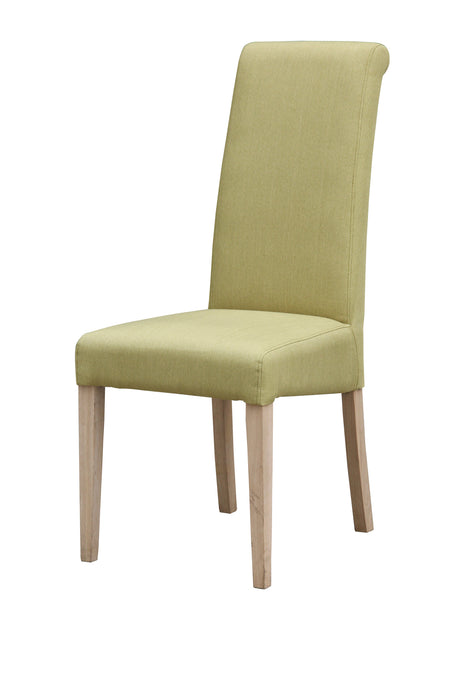 Hanbury Fabric Dining Chair Solid Rubberwood Olive (Set of 2) - VEHome