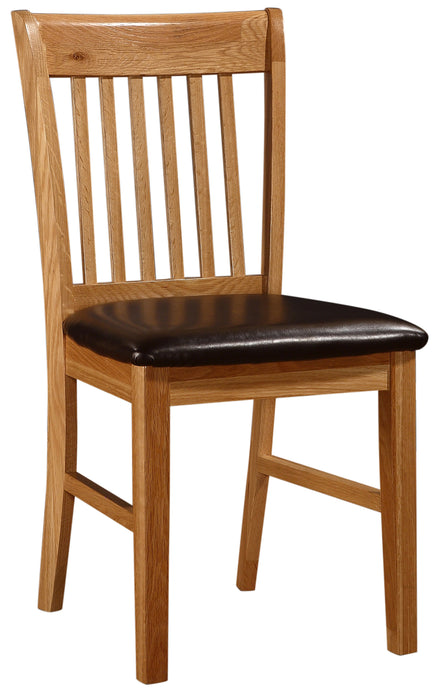 Lincoln Dining Chair Solid Oak Natural Wood (Set of 2)