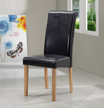 Load image into Gallery viewer, Marley PU Solid Rubberwood Dining Chair In Black or Brown (Set of 2) - VEHome