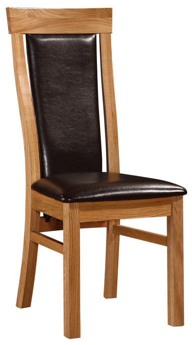 Matise Dining Chair Solid Oak Natural Wood (Set of 2)