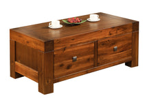 Load image into Gallery viewer, Monaco Coffee Table Solid Acacia Wood 2 Drawers