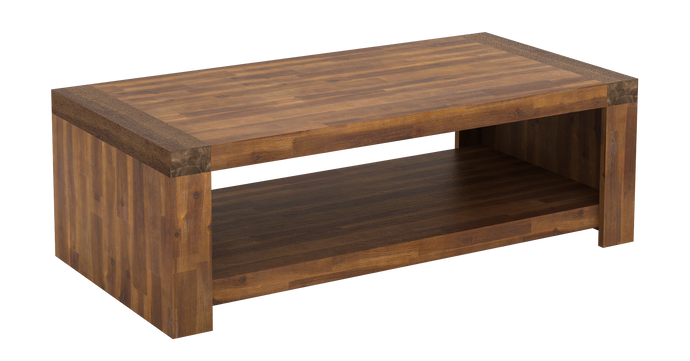 Parkfield Solid Acacia Wood Coffee Table & Lamp Table SET