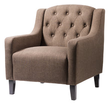 Load image into Gallery viewer, Pemberley Fabric Arm Chair In Brown, Black, Grey or Beige - VEHome
