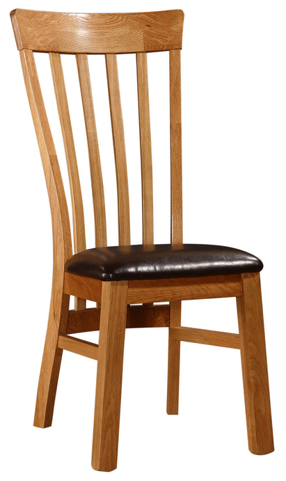 Rutland Dining Chair Solid Oak Natural Wood (Set of 2) - VEHome