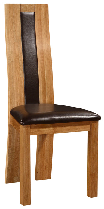 Shirley Dining Chair Solid Oak Natural Wood (Set of 2)