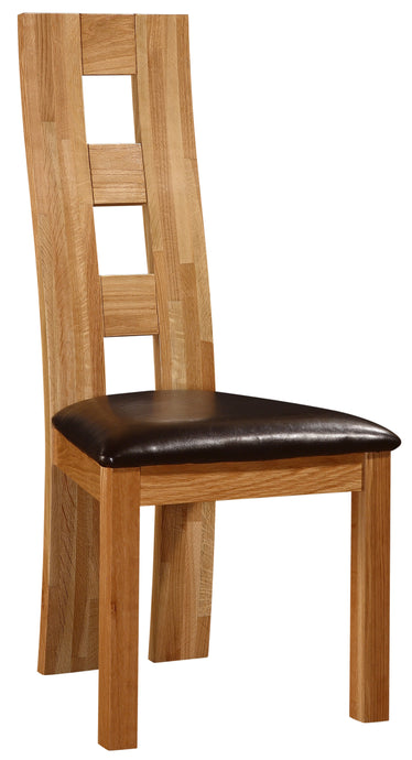 Weston Dining Chair Solid Oak Natural Wood (Set of 2)