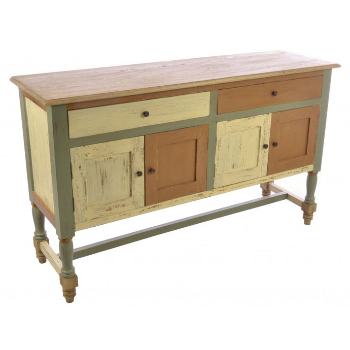 Abbey Painted 2 Drawer Sideboard Solid Mindi Wood - VEHome