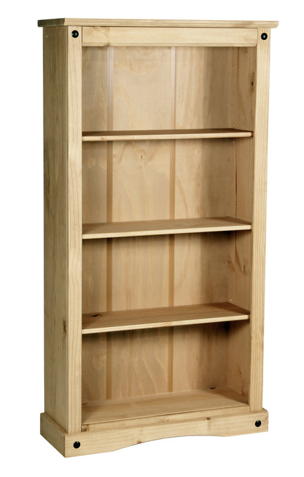 Corona Bookcase Medium with 3 Shelves Solid Pine Wood - VEHome