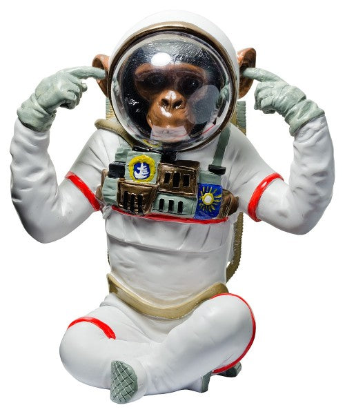 Monkey Astronaut Figurine - Hear No Evil Decorative Ornament - VEHome