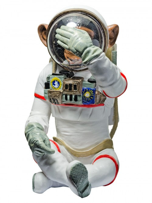 Monkey Astronaut Figurine - See No Evil Decorative Ornament - VEHome