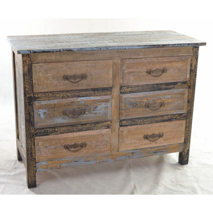 Cuba 6 Drawer Chest of Drawers Solid Mindi Wood