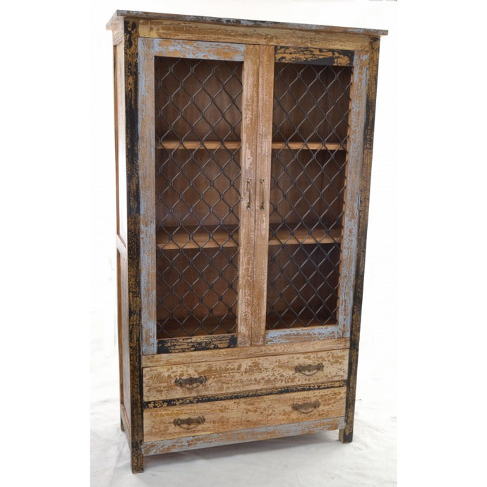Cuba Shelving Display Unit Solid Mindi Wood