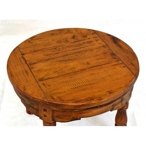 East Indies Round Coffee Table Solid Mango Wood - VEHome