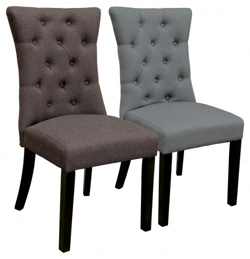 Fabric Sanderson Dining Chair Available in Brown Or Grey - VEHome
