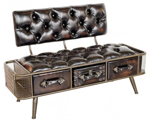 Steam Punk Style Bench Sofa Seat - VEHome