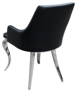 Caroline Black Dining Chair Faux leather