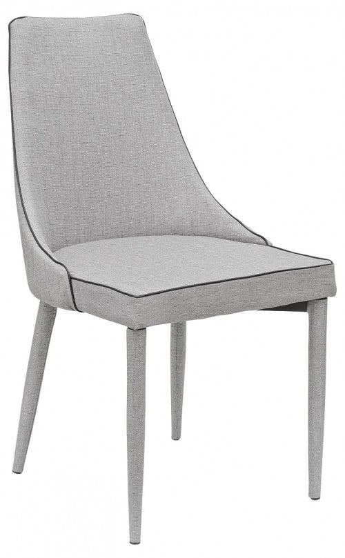 Duncan Dining Chair Available in Light or Dark Grey - VEHome