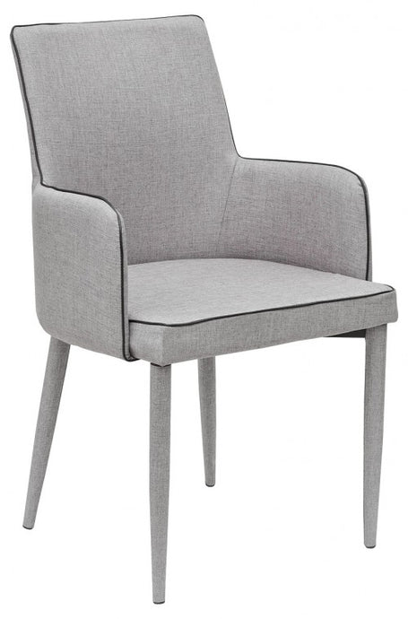Duncan Dining Carver Chair Fabric available in Light Or Dark Grey - VEHome