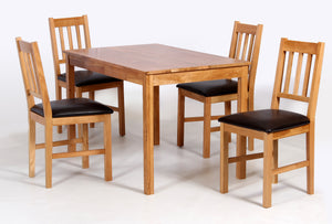Hyde Solid Oak Wood Dining Table SET WITH Matching Chairs - VEHome