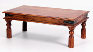 Jaipur Deco Coffee Table Solid Acacia Wood Rustic & Antique Look - VEHome