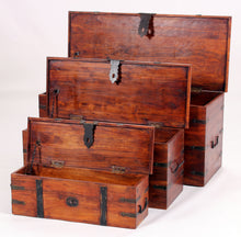 Load image into Gallery viewer, Jaipur Decor Trunk Set Storage Ottoman Solid Acacia Wood Rustic - VEHome