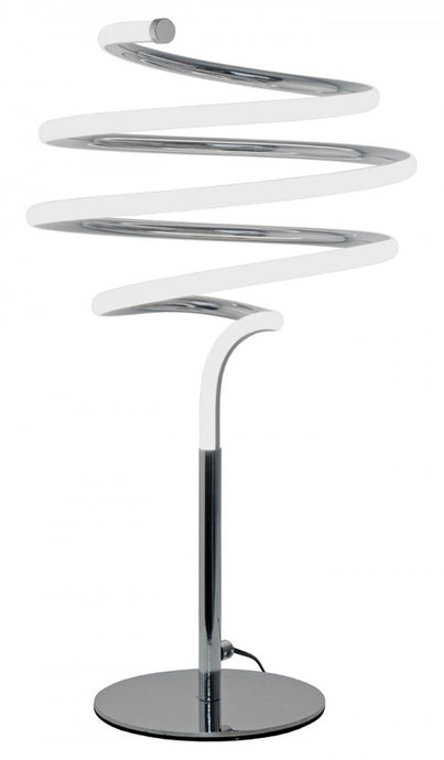 LED Spiral Silver Table Lamp - VEHome