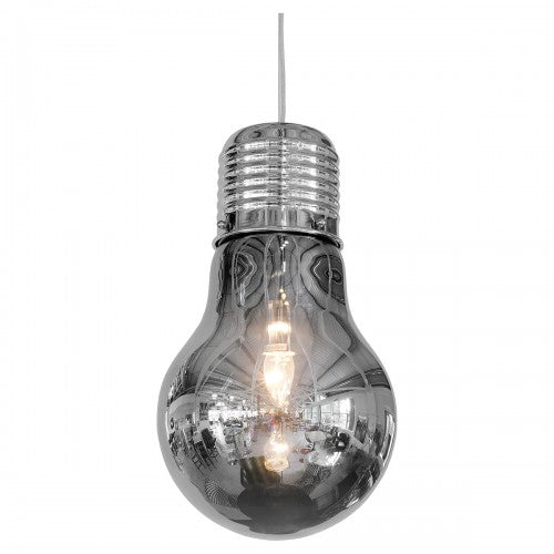Smoked Bulb Shaped Ceiling Lamp - VEHome