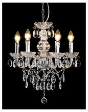 Load image into Gallery viewer, Henley 5 Lamp Chandelier In Black or Clear - VEHome