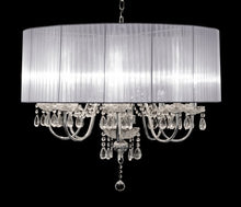 Load image into Gallery viewer, Beaumont Eight Light Chandelier hanging crystal pendants Chrome Finish - VEHome