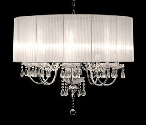 Beaumont Eight Light Chandelier hanging crystal pendants Chrome Finish - VEHome