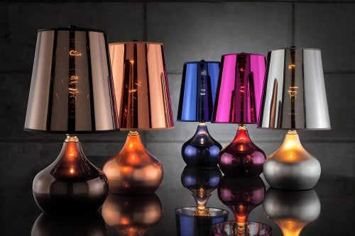 Metallic Spectre Table Lamp available in 5 Metallic Colours Translucent Shade - VEHome