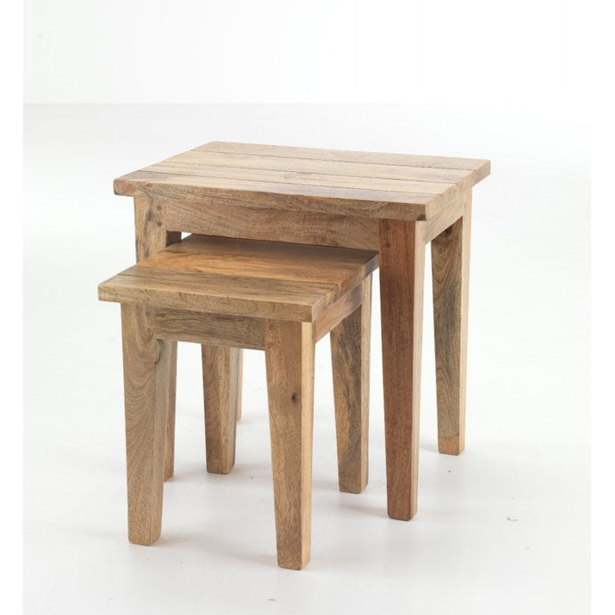 Metro Nest of Tables Solid Mango Wood