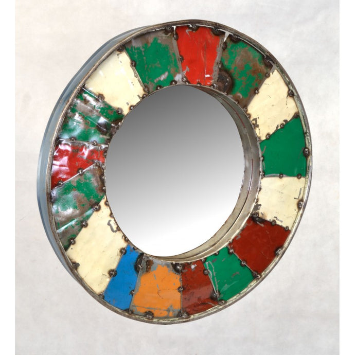 Mosaic Mirror Created From Recycled Oil Drums