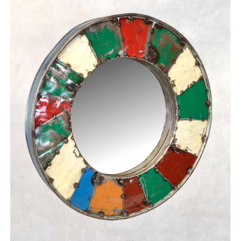 Mosaic Mirror Created From Recycled Oil Drums - VEHome