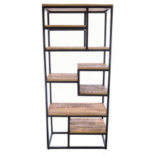 Load image into Gallery viewer, Old Empire Open Bookcase Solid Mango Wood And Steel