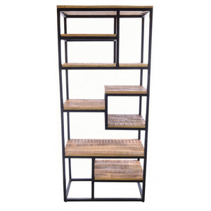 Old Empire Open Bookcase Solid Mango Wood And Steel
