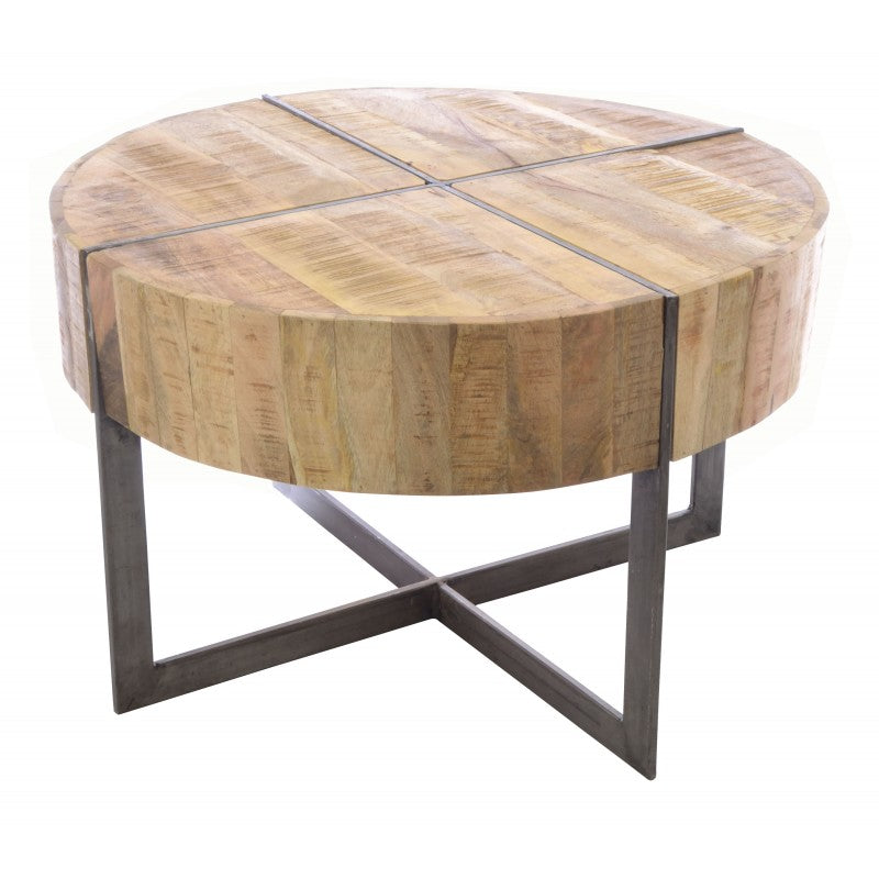 Old Empire Round Coffee Table Solid Mango Wood