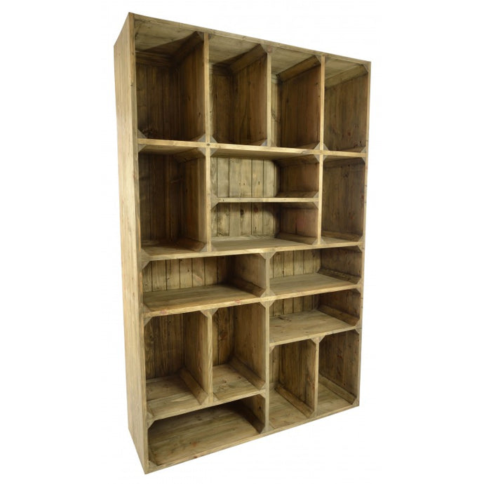 Oregon Display Unit Made From Pine Wood Bookcase