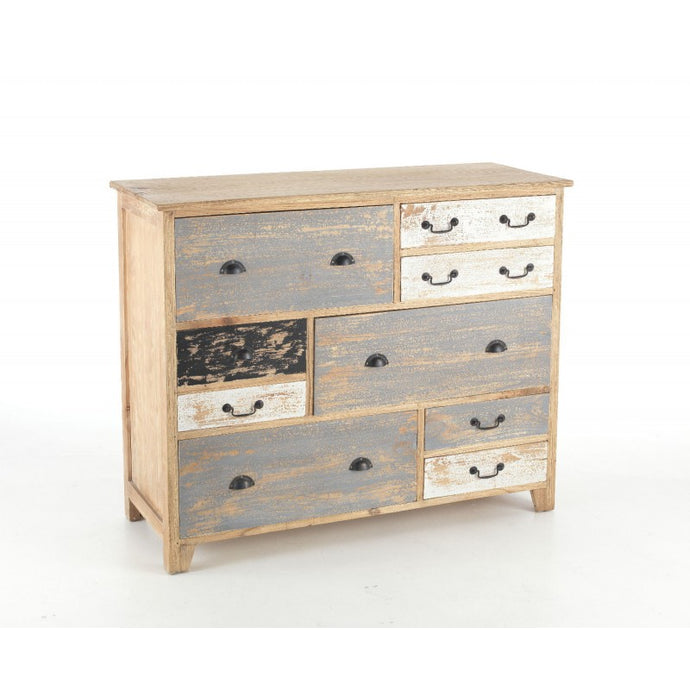 Piccadilly Long Chest of Drawers Solid Mindi Wood