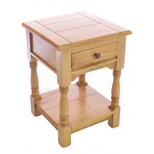 Plato Lamp Bedside Table Solid Mango Wood 1 Drawer - VEHome