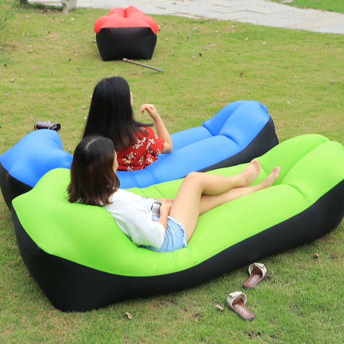 Inflatable Sofa Lazy Bag Sleeping Bag 240*70cm Camping Portable Air Banana Sofa Beach Bed Air Hammock Nylon - VEHome