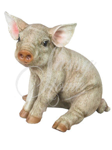 Sitting Pig Ornament Beautifully detailed Animal Figure - VEHome