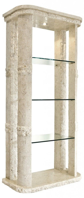 Rockedge Bookcase Display Unit Mactan Stone Étagére Display Unit - VEHome