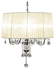 Load image into Gallery viewer, Classical Four Light Chandelier in 6 Shades Chrome Finish with Glass Detailing - VEHome